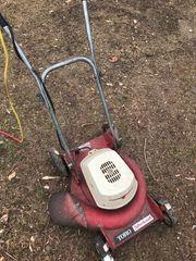 kleiner Elektro- Rasenmäher