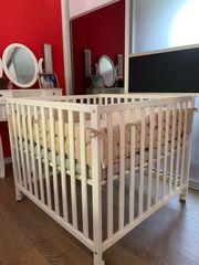 Laufgitter mit Matratzenauflage höhenverstellbar Baby
