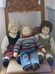 3 handgemachte Puppen