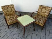 3 Sessel 1 Tisch 50er