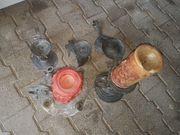 5 verschiedene handgefertigte Kerzenständer verschiedene