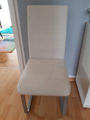 Weißer Stuhl - Kunstleder