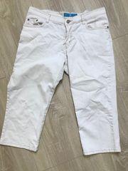 3 4 weiße Jeanshose
