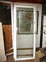 Terrassentür Kunststoff mit Rahmen weiß
