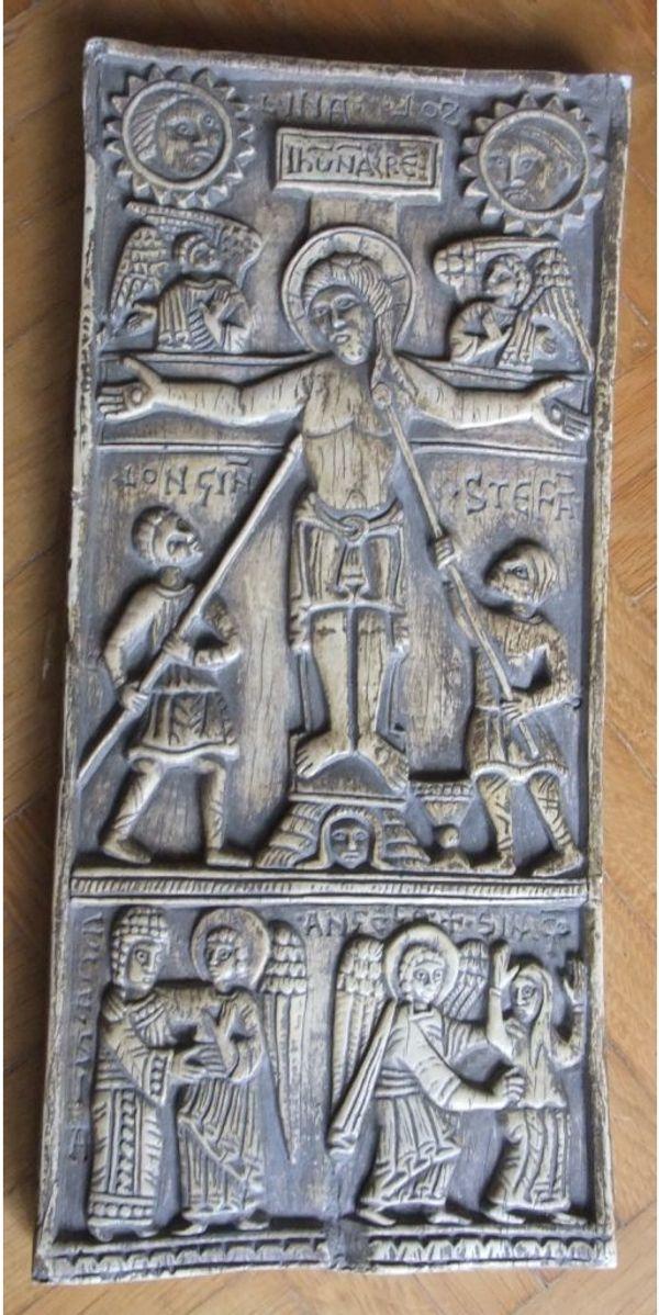 Religiöser Gipsabdruck Kreuzigung Christi