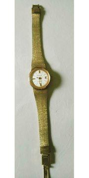 Kasper goldfarbende Damen Armbanduhr