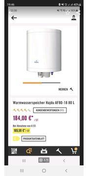 80Liter Warmwasserspeicher