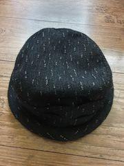 Hut Mütze schwarz weiss wie