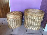 2 Wäschekörbe Rattan