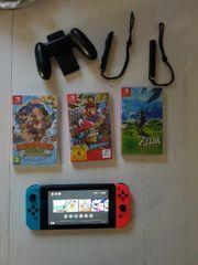 Nintendo Switch Konsole plus Spiele