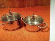 Edelstahl - Küchenkochtöpfe im Top-Zustand