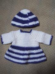 Puppenkleidung Kleid mit Mütze