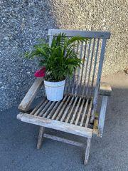 Stuhl aus Teakholz für Dekoration