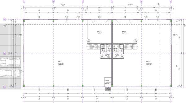 Büro Montage und Lagerflächen zu