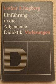 Einführung in die allgemeine Didaktik -