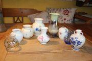 Vasen Sammlung kleine Vasen