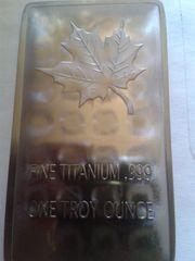 Sammlerbarren Medallie-999 Titan