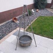 Schwenkgrill komplett aus Edelstahl Eigenbau