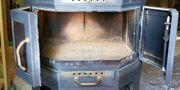 Holz Kohle Ofen Metall Schamot