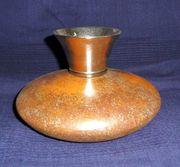 Vase - Rostdesign Metall verchromt - Höhe