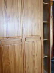 Kleiderschrank Holz Eiche 195x135x58 cm