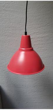 neuwertige Ikea Hängelampe rot für