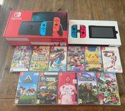 Nintendo Switch V2 11 Spiele