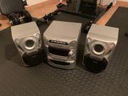 Stereoanlage Panasonic silber schwarz