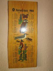 DDR Wandkalender Holzkalender Naturschutz 1988
