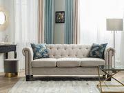 3-Sitzer Sofa Polsterbezug beige gerade