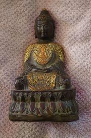 Buddha Bronze Gold Statue Skulptur