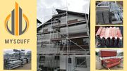 Gerüst Baugerüst 120qm Fassadengerüst neues