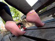 Getragene Socken Sneakersocken