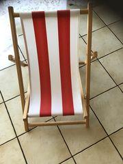 Kinderliegestuhl rot weiß