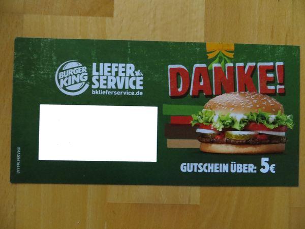 Burger King Lieferservice Gutschein