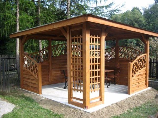 Holzpavillon Gartenlaube 300x300 350x350 NEU