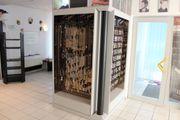 Ladeneinrichtung Verkaufsregal Warenschrank Spiegelschrank Eck