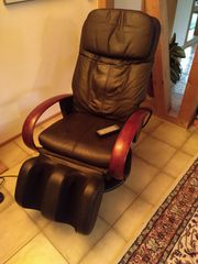 Massagesessel New York Teil-Leder Knet-