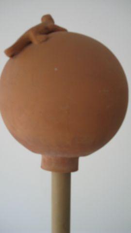 Bild 4 - Terracotta Dekokugel mit Eidechsenmotiv - Winnenden