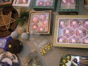 Konvolut Weihnachtsutensilien Weihnachten Kugeln Teller