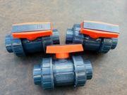 3x PVC-Kugelhahn DN40