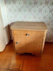 Antike Vintage Massivholz Nachttische - 2