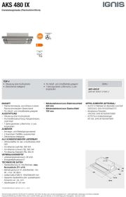 Dunstabzugshaube Ignis AKS 480 IX