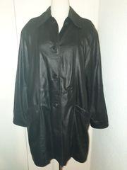 Lederjacke lang schwarz Gr 40