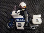 Playmobil Polizeimotorrad weiß