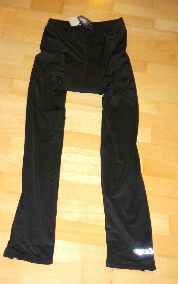 NEU lange schwarze Fahrradhose M