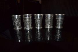 5 Zinnerbecher SKS: Kleinanzeigen aus Kirchseeon - Rubrik Glas, Porzellan antiquarisch