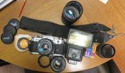 Canon AT-1 große Kameraausrüstung mit