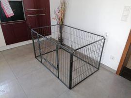 Zubehör für Haustiere - Welpenauslauf Freigehege Tierlaufstall Welpenzaun Laufgitter