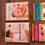 Vier GU-Bücher Schwangerschaft Baby